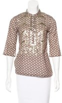 Figue Printed & Embellished Top