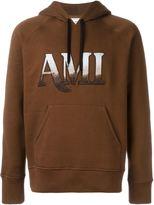 Ami Alexandre Mattiussi hooded sweatshirt ami embroidery - men - Cotton - M