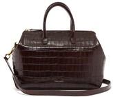 Mansur Gavriel Travel Mini Crocodile-embossed Leather Bag - Womens - Brown