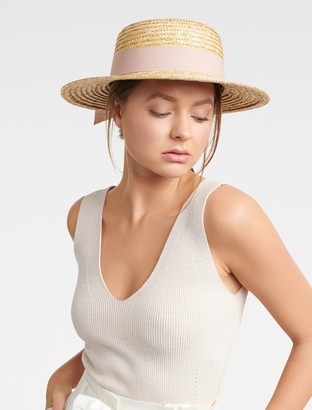 Ever New Grace Straw Boater Hat