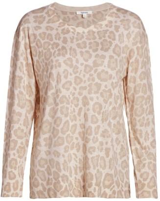 Splendid Flynn Leopard Printed Sweater
