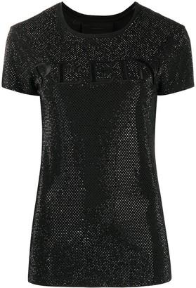 Philipp Plein Crystal Plein embroidered T-Shirt
