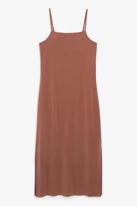 Monki Side slit dress
