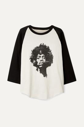 Nili Lotan Printed Cotton-jersey Top - Off-white