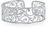1/5 CT Diamond Cuff Bracelet in Sterling Silver for Women by Ax Jewelry