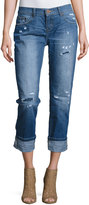 One Teaspoon Awesome Baggies Cropped Jeans, Dark Blue
