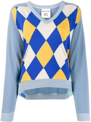 Semi-Couture Semicouture Argyle intarsia sweater