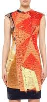 Akris Punto Women's Rock Climbing Wall Print Cap Sleeve Sheath Dress