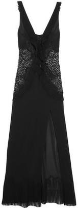 La Perla Quartz Garden Paneled Stretch-silk Georgette Nightdress