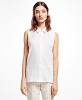 Brooks Brothers Sleeveless Cotton-Blend Shirt