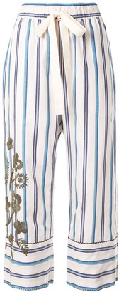 Lee Mathews Cropped Striped Trousers