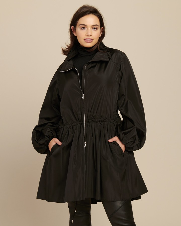 ADAM by Adam Lippes Taffeta Ruched Anorak with Scarf
