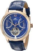 Adee Kaye Men's AK2241-MRG/BU Prospere Analog Display Automatic Self Wind Blue Watch