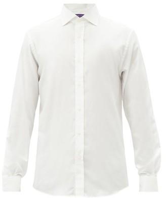 Ralph Lauren Purple Label Cotton-flannel Shirt - Cream