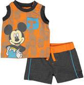 Children's Apparel Network Orange & Gray Tee & Shorts - Infant