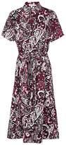 Kenzo Paisley-print Poplin Midi Dress