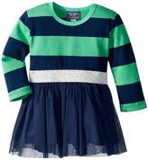 Toobydoo Tulle Dress w/ Rugby Stripe Girl's Dress