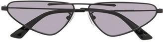 McQ Swallow Narrow Tinted Sunglasses