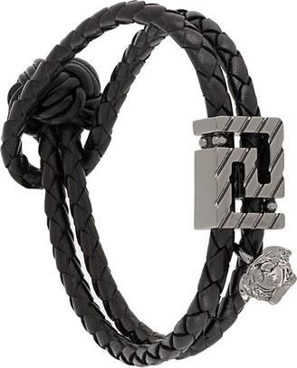 Versace GV Greca leather bracelet