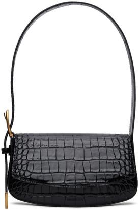 Balenciaga Black Croc Ghost Sling Bag