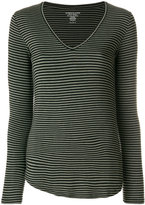 Majestic Filatures V-neck striped jersey top