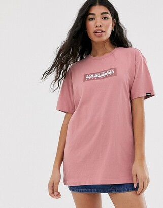 Napapijri Sox Tribe t-shirt in pink