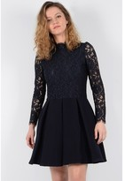 Molly Bracken Short Lace Dress with Long Sleeves