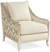 Caracole Sutton Club Chair - Neutral frame, pure silver; upholstery, neutral