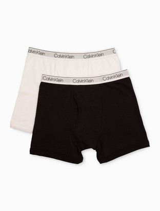 Calvin Klein Boys Modern Cotton Stretch 2-Pack Logo Boxer Briefs