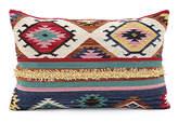 Karma Living 24'' Blue & Burgundy Geometric Throw Pillow