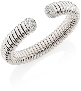Bagutta Via 18K White Gold & Diamond Flex Cuff Bracelet