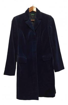Benetton Blue Velvet Coats