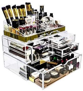 Sorbus Makeup Storage Organizer - X-Large - Set 1 - Gold