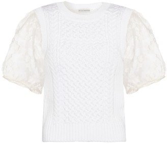Cecilie Bahnsen Faye cable-knit top