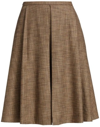 Piazza Sempione Above The Knee Pleated Skirt