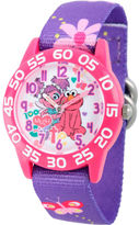 Sesame Street Girls Purple Flower Friends Time Teacher Strap Watch W003193