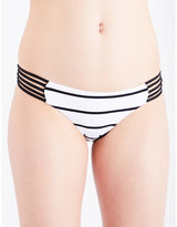 Seafolly Castaway striped Brazilian bikini bottoms