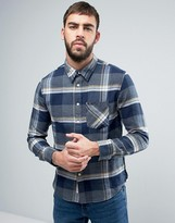 Lee Slim Check Flannel Shirt Gray