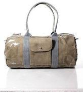 Brunello Cucinelli Brown Patent Leather Adjustable Messenger Duffel Handbag