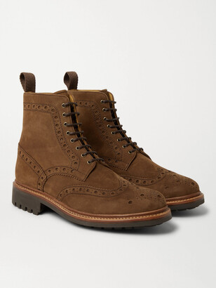 Grenson Fred Nubuck Brogue Boots