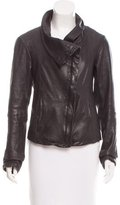 AllSaints Fitted Leather Jacket
