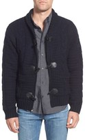 Schott NYC Cable Knit Shawl Collar Zip Cardigan
