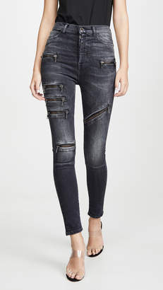 Unravel Project Multizip Skinny Jeans