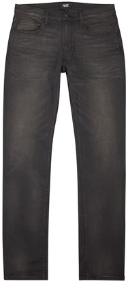 Paige Federal Dark Grey Slim-leg Jeans