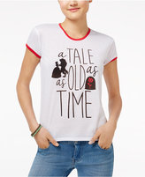 Mighty Fine Disney Beauty and the Beast Juniors' A Tale As Old As Time Graphic Ringer T-Shirt