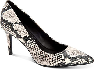 Calvin Klein Gayle Snakeskin-Print Stiletto Pumps Women Shoes