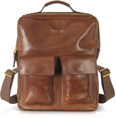 The Bridge Sfoderata Marrone Leather Backpack
