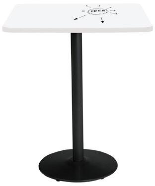 """KFI Studios Square Pedestal Table KFI Studios Size: 29"""" H x 30"""" L x 30"""" W, Base Finish: Black"""