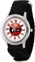 Marvel Emoji Boys Black Strap Watch-Wma000094