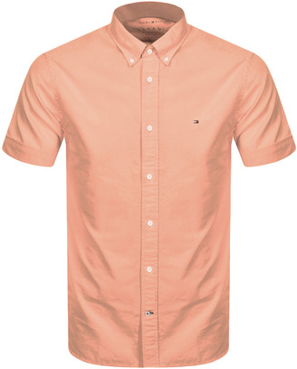 Tommy Hilfiger Slim Fit Short Sleeve Shirt Pink